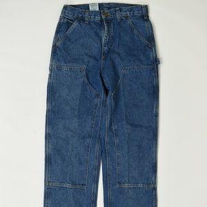 Carhartt Regular  Blue 30 x 32 Straight Cotton Sol